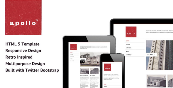 Vintage Bootstrap Website Theme