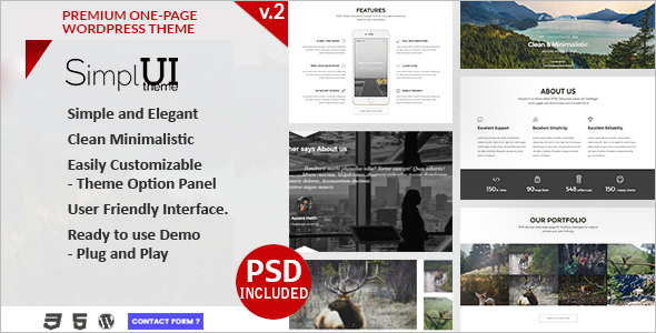 Vintage Parallax Website Template