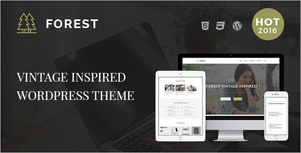 Vintage Website Art Theme