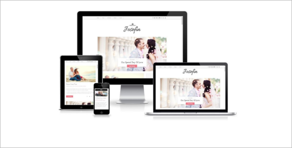Wedding Blogger Website Template