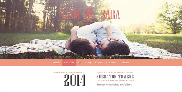 Wedding Bootstrap Joomla Template