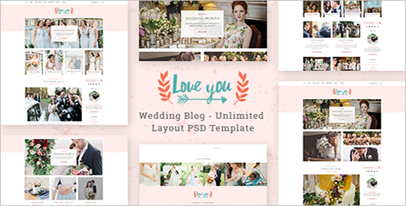 Wedding Joomla PSD Template