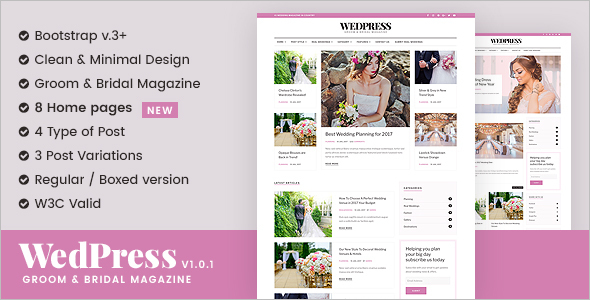 Wedding Magazine Blog Template