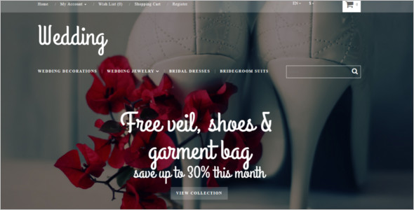 Wedding Store Responsive OpenCart Template