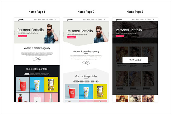WordPress Blog Portfolio Theme