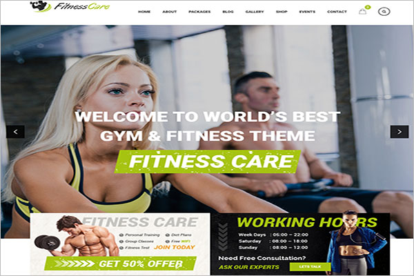 WordPress Yoga Theme