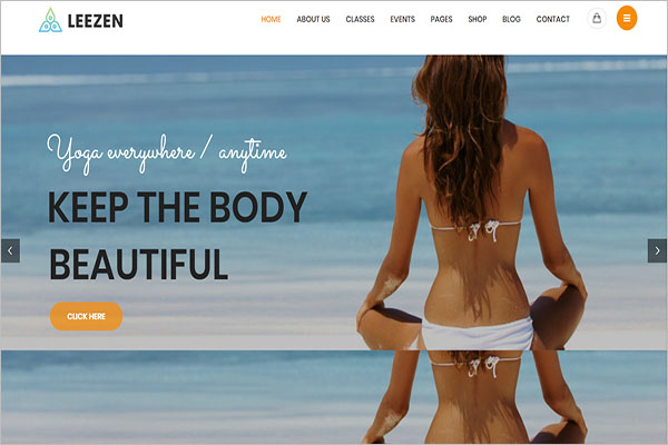 Yoga Center WordPress Theme
