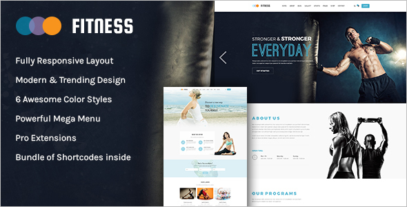 Yoga Website App template