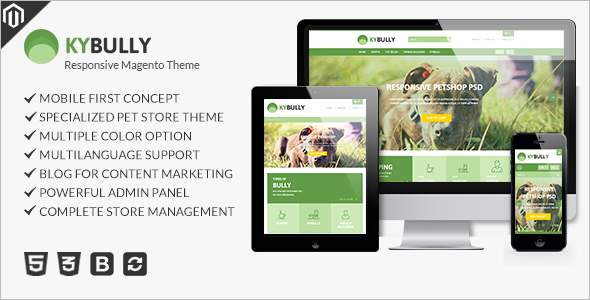 personal Pet Store Magento Template