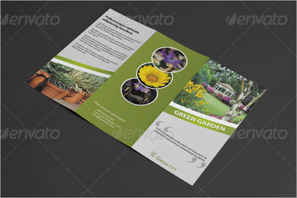 3 Fold Green Brochure Template