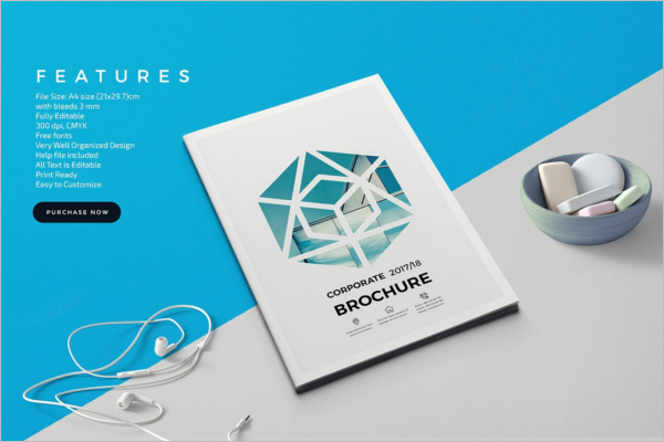 A4 Brochure Template PSD