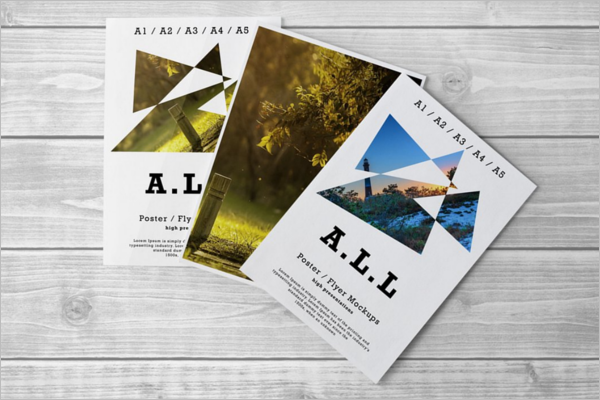 A4 Flyer Mockup PSD Bundle