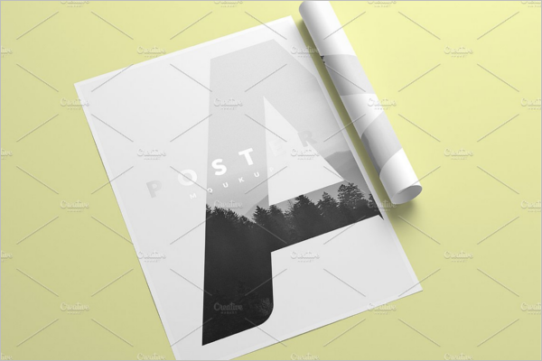A4 Flyer Mockup PSD Design