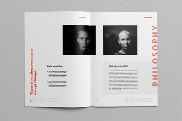 A4 Magazine Brochure Template