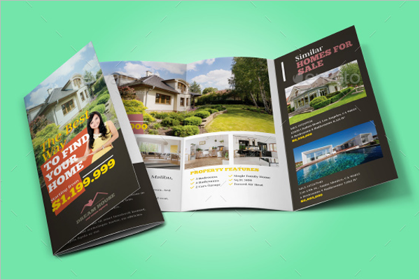 A4 Real Estate Brochure Template