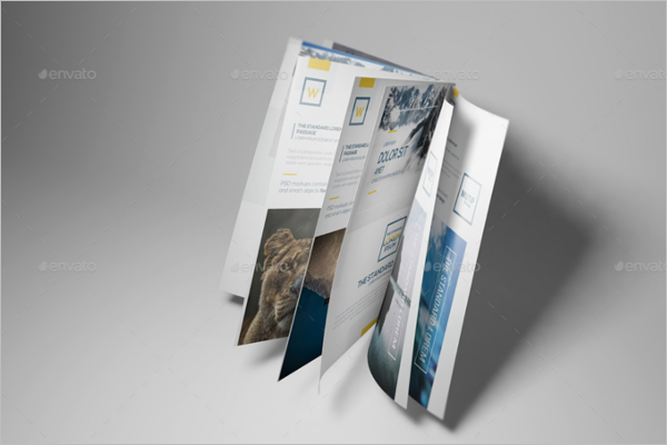 A5 Brochure Book Mockup Template