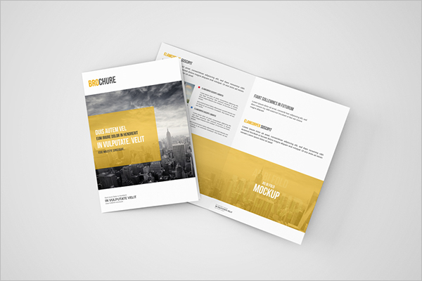 A5 Brochure Mockup Download