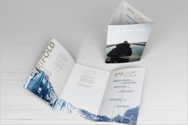 A5 Brochure Mockup Sample