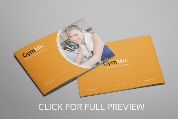 A5 GYM Brochure Template