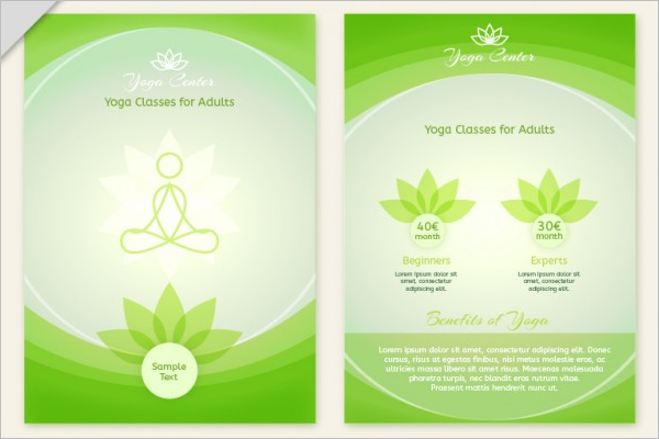 Abstract Yoga Brochure