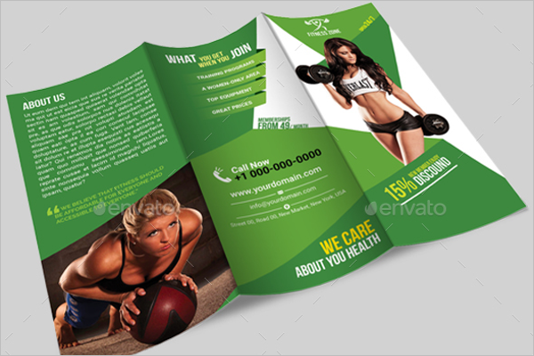 Advertising GYM Brochure Template