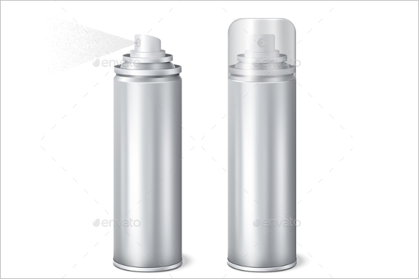 Aluminium Spray Can Mockup