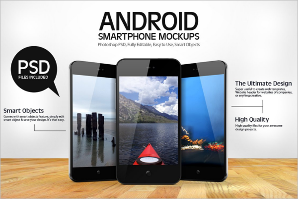 Android Smartphone Mockup Design