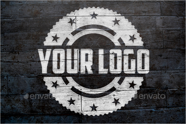 Antique Wood Logo Mockup