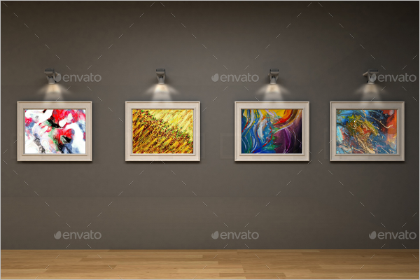 Art Gallery Mockup Template