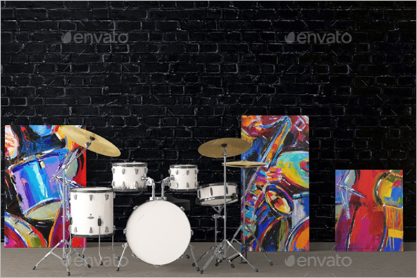 Art On Walls Mockup Template