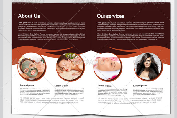 Beauty Services Brochure Design