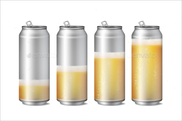 Beer Can Mockup Design
