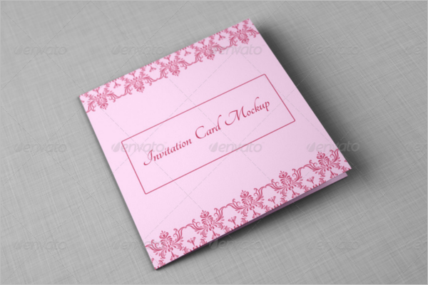 Bi-fold Invitation Card Mockup