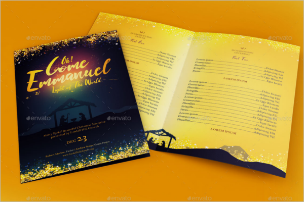 Bifold Christmas Brochure Template