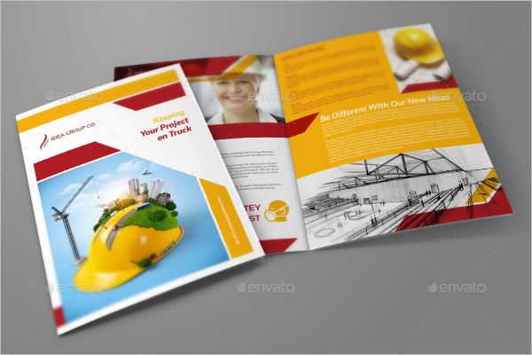 Bifold Construction Company Brochure Design