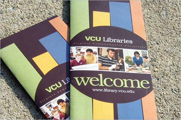 Bifold Library Brochure Design