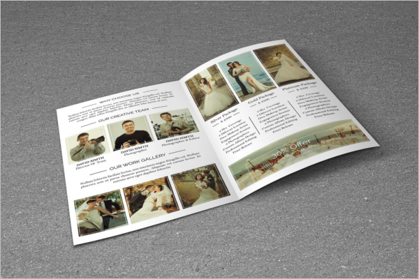 Bifold Wedding Brochure Template