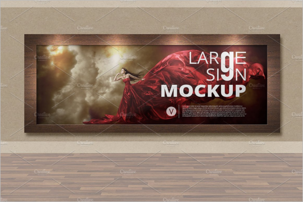 Billboard Mock-up Model