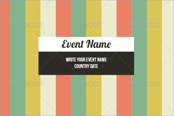 Blank Event Brochure Template