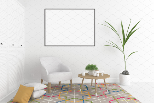 Blank Hall Wall Art Mockup