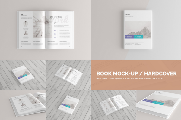 Book Mockup PSD Design