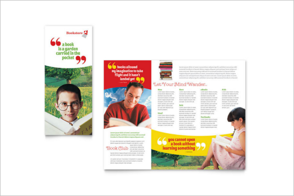 Bookstore Brochure Template