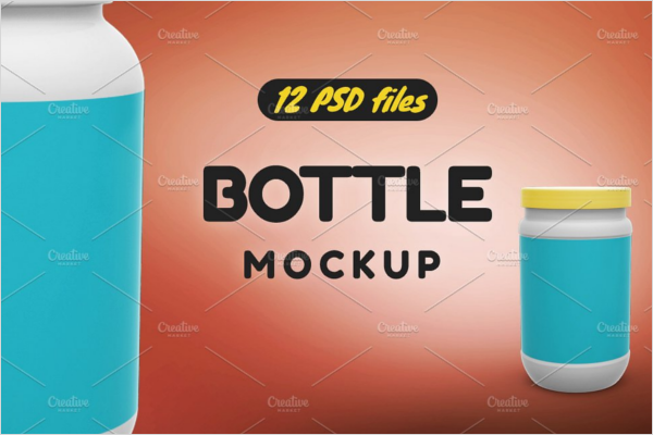 Bottle Mockup Design