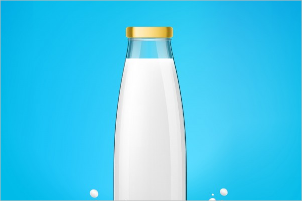 Bottle Mockup Free Vector