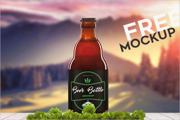 Bottle Mockup PSD Free Download
