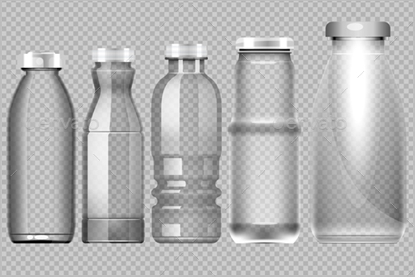 Bottle Mockup Vector Set