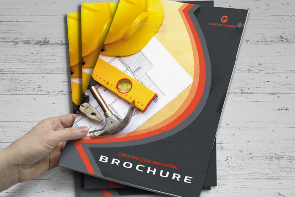 Brochure InDesign Format For Construction