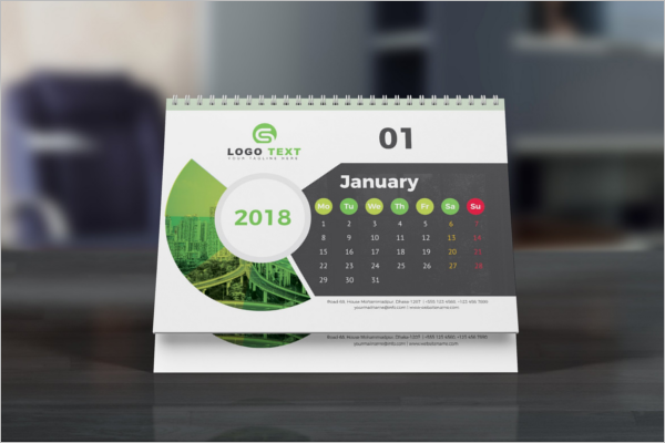 Business Calendar Mockup PSD