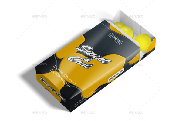 Candy Box Packaging Mockup