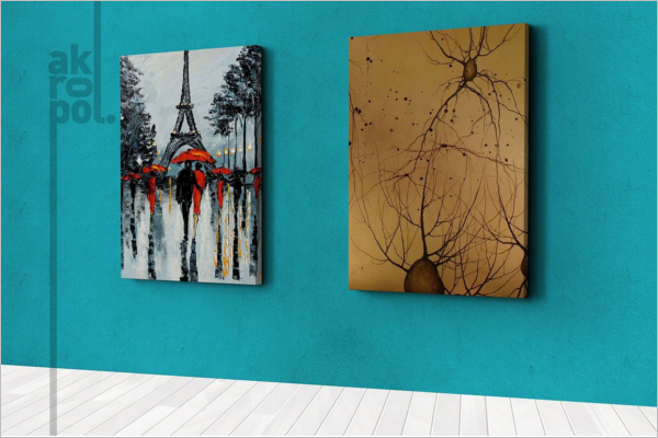 Canvas Wall Art Mockup Template